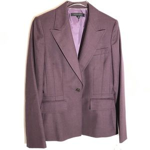 NWT Anne Klein Purple Blazer Size 6 Career Wear